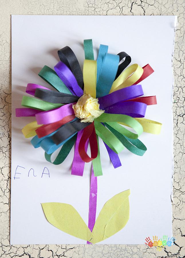 3ce8bf3f4244 Детская аппликация из цветной бумаги и прочих подручных средств ...