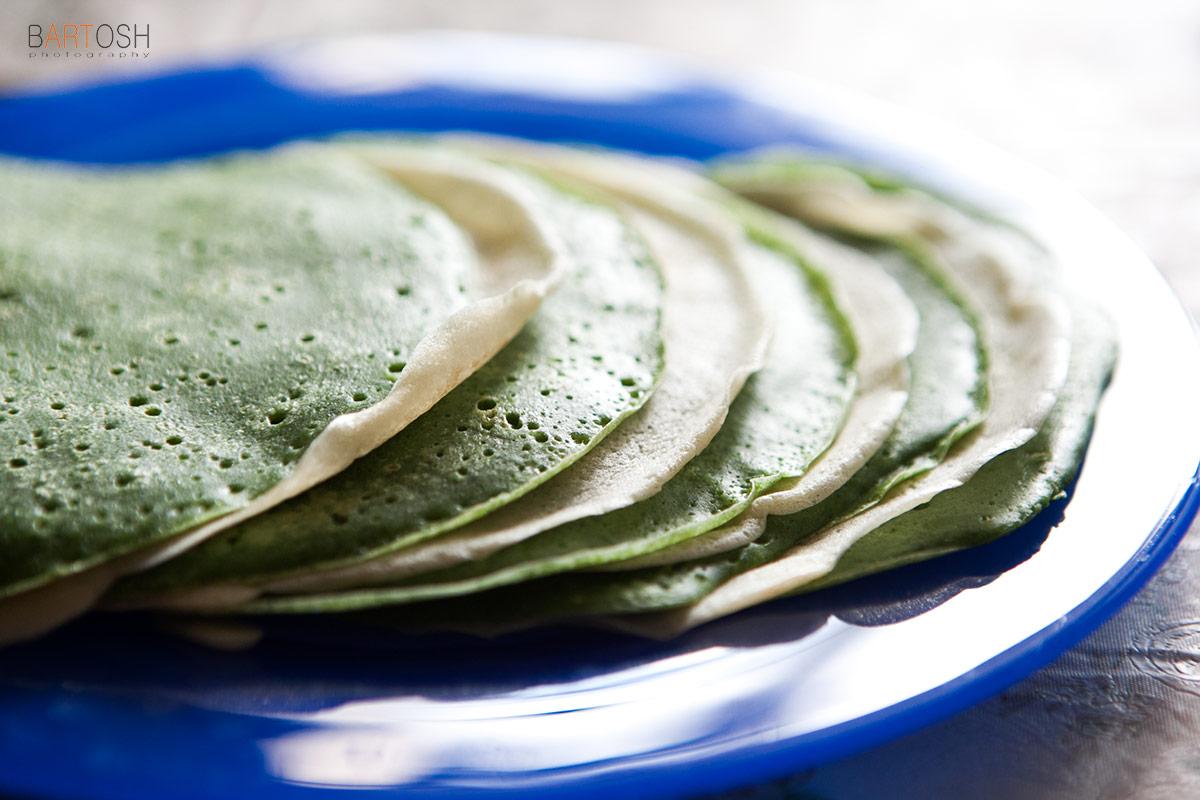 Блин со шпинатом на масленицу. Pancake