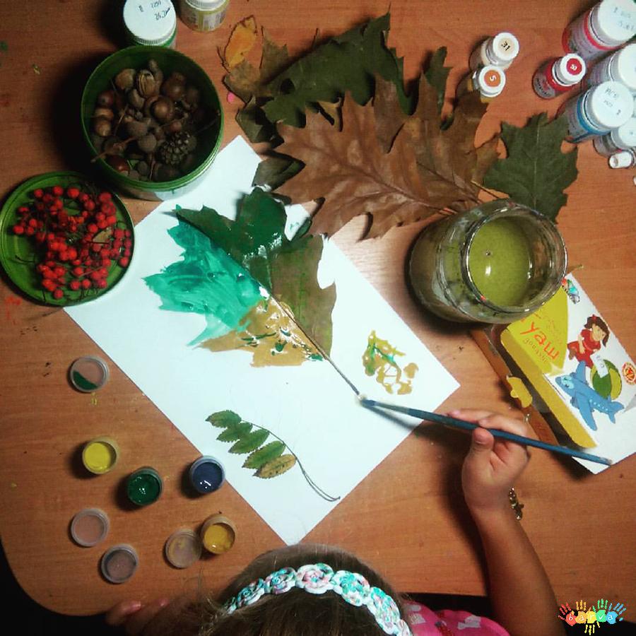 аплікація-живопис з природніх матеріалів
